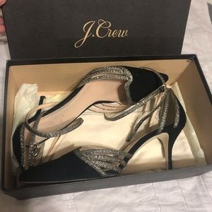 J. Crew Collette Ankle Wrap Pumps in Suede, size 9